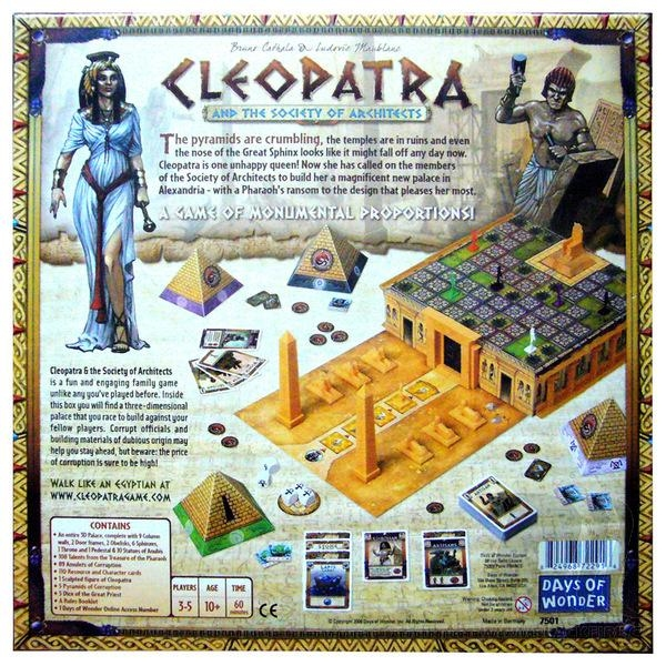 Cleopatra and the Society of Architects - zadní strana