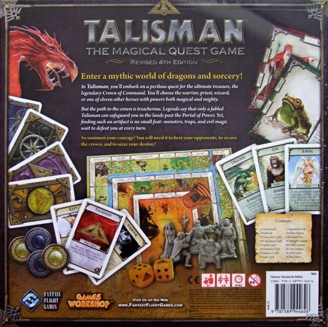 Talisman Revised 4th Edition - zadní strana