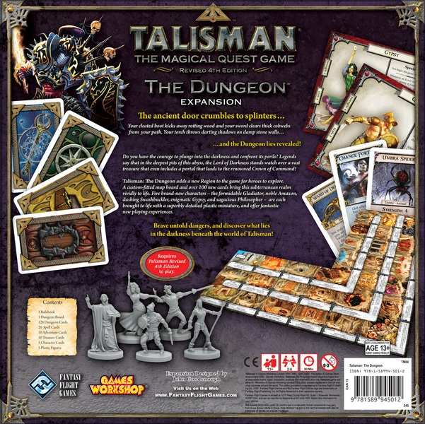 Talisman: The Dungeon Expansion - zadní strana
