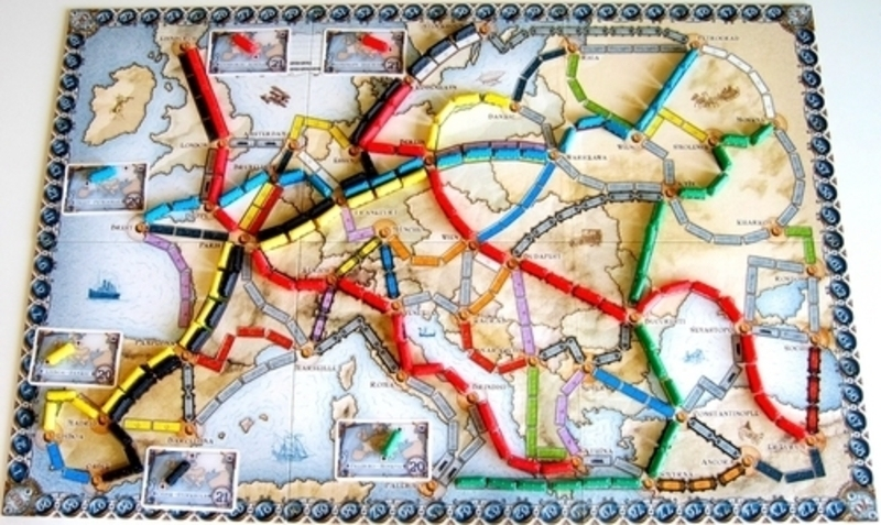 Ticket to Ride - EUROPE - rozehraná hra